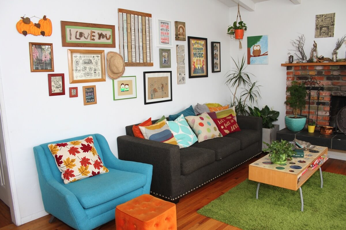 Home Tour: Bold, Colorful and Unique Home of Dig and Hang Blogger Kim LaPlante