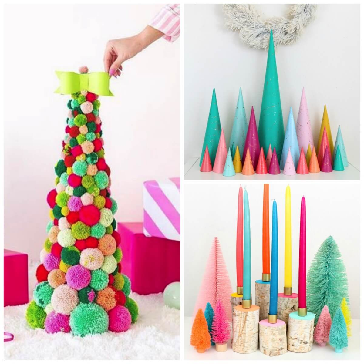 bright colorful and cheerful christmas decoration tutorials - Office Supply Christmas Decorations