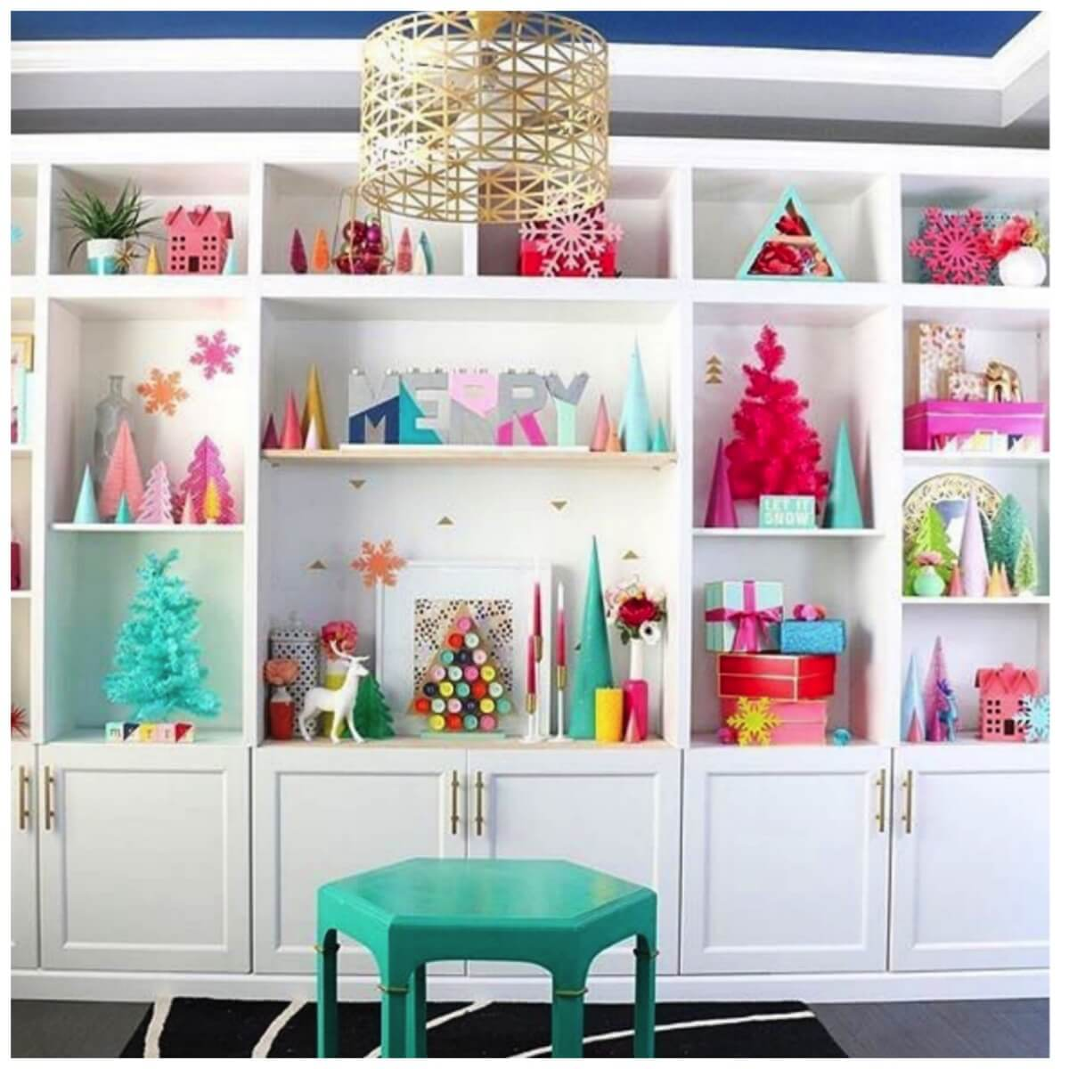 colorful vintage christmas shelf decoration ideas for christmas shelf decoration ideas