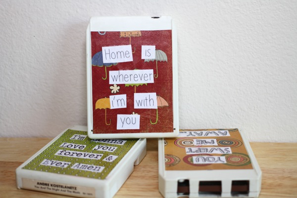 DIY: Recycled 8 Track Tape Music Lyric Artwork For Your Home