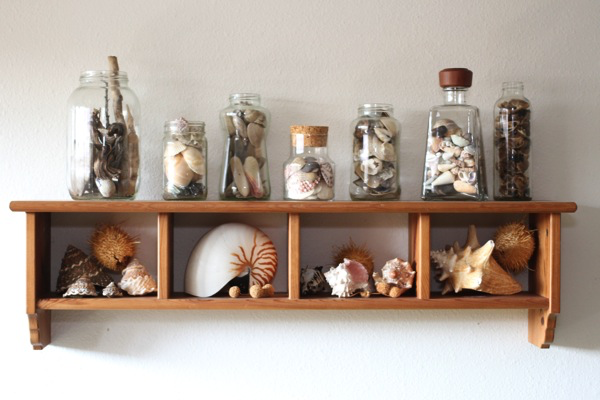 DIY: Recycled Glass Jar Collection Display Idea For Your Home