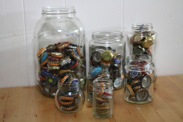 Recycled Craft Home Decor Glass Jar Collection Knick Knack Trashy Crafter13