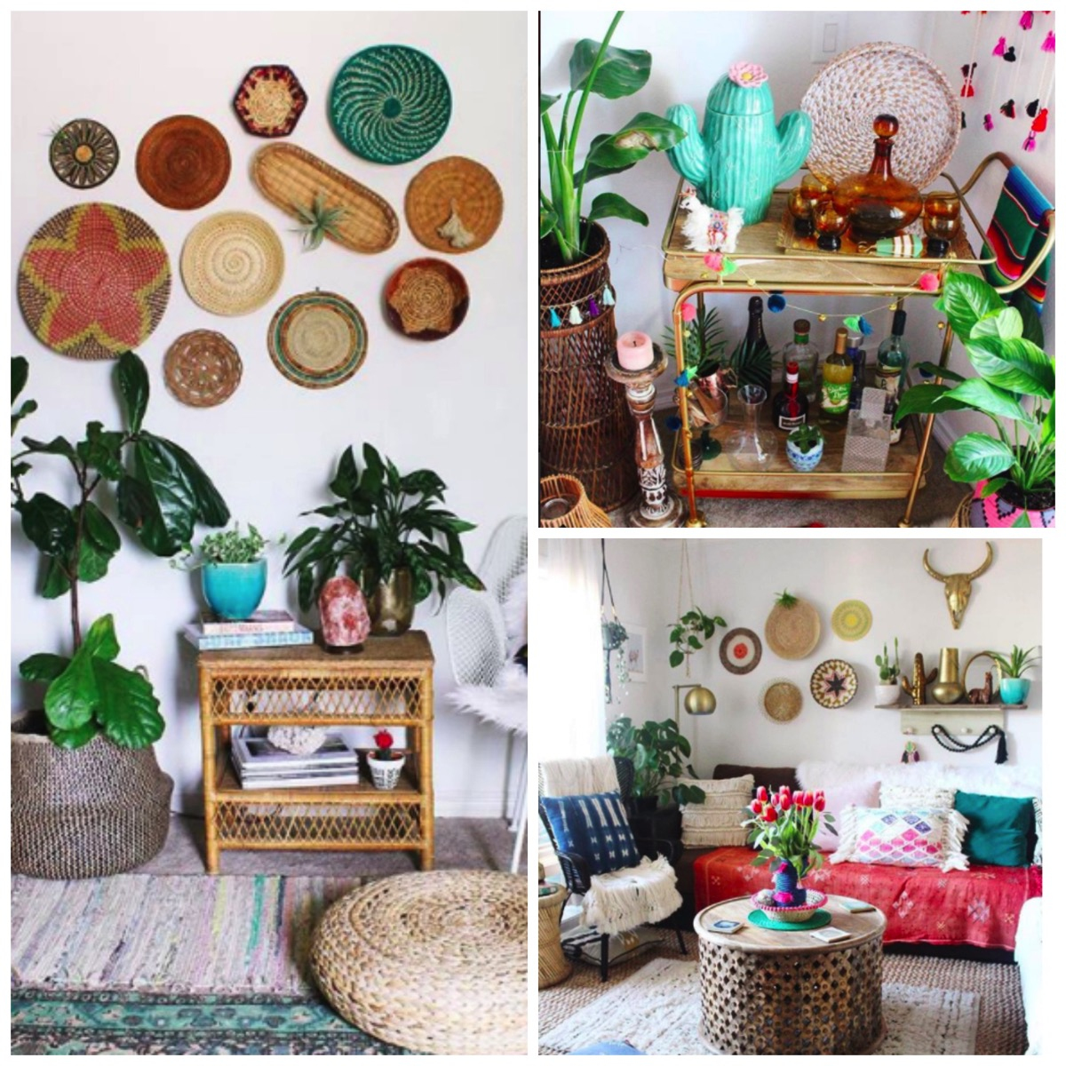 Boho living room organization and decor ideas fun and colorful