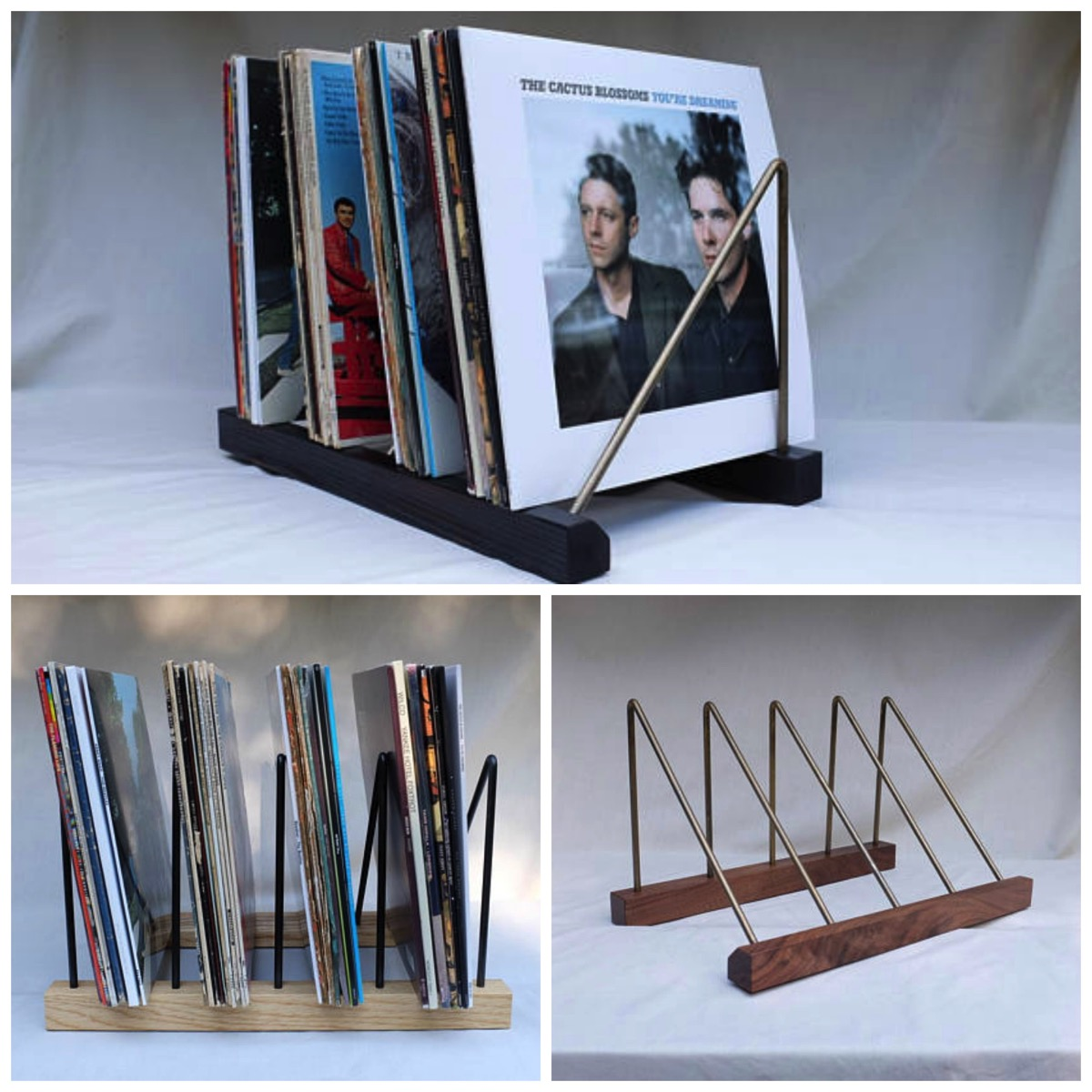 Metal modern vinyl record rack holder