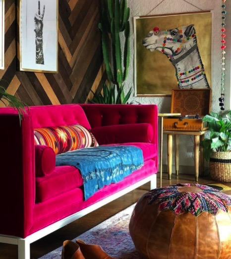 Home Tour: Eclectic, Bright, colorful and Lively home of Jen Streeter, Better Known As The Blissfully Eclectic.