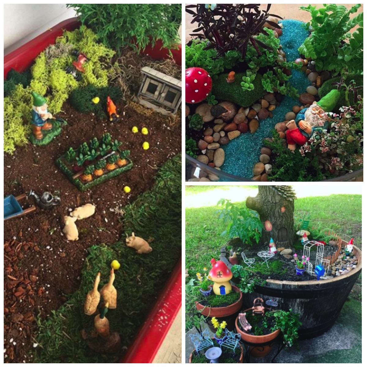 Gnome garden village ideas for yard