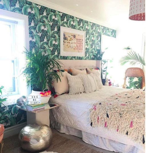 Jen streeter blissfully eclectic home tour jungle bedroom