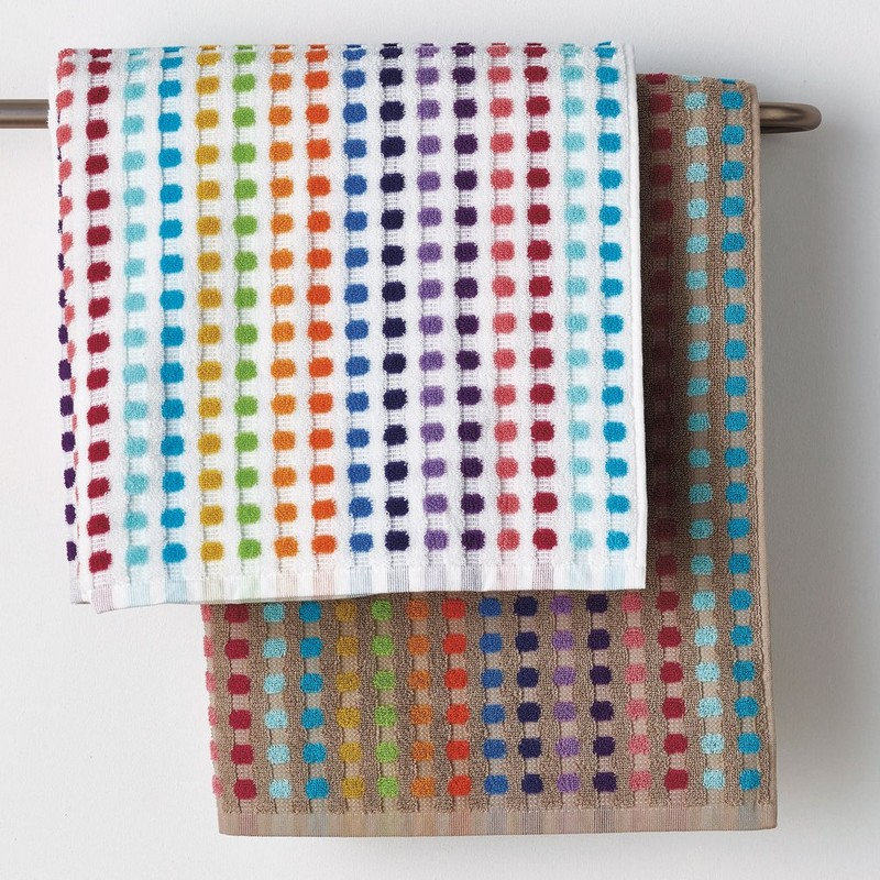 Bold And Colorfully Patterned Bathroom Towel Sets Switch