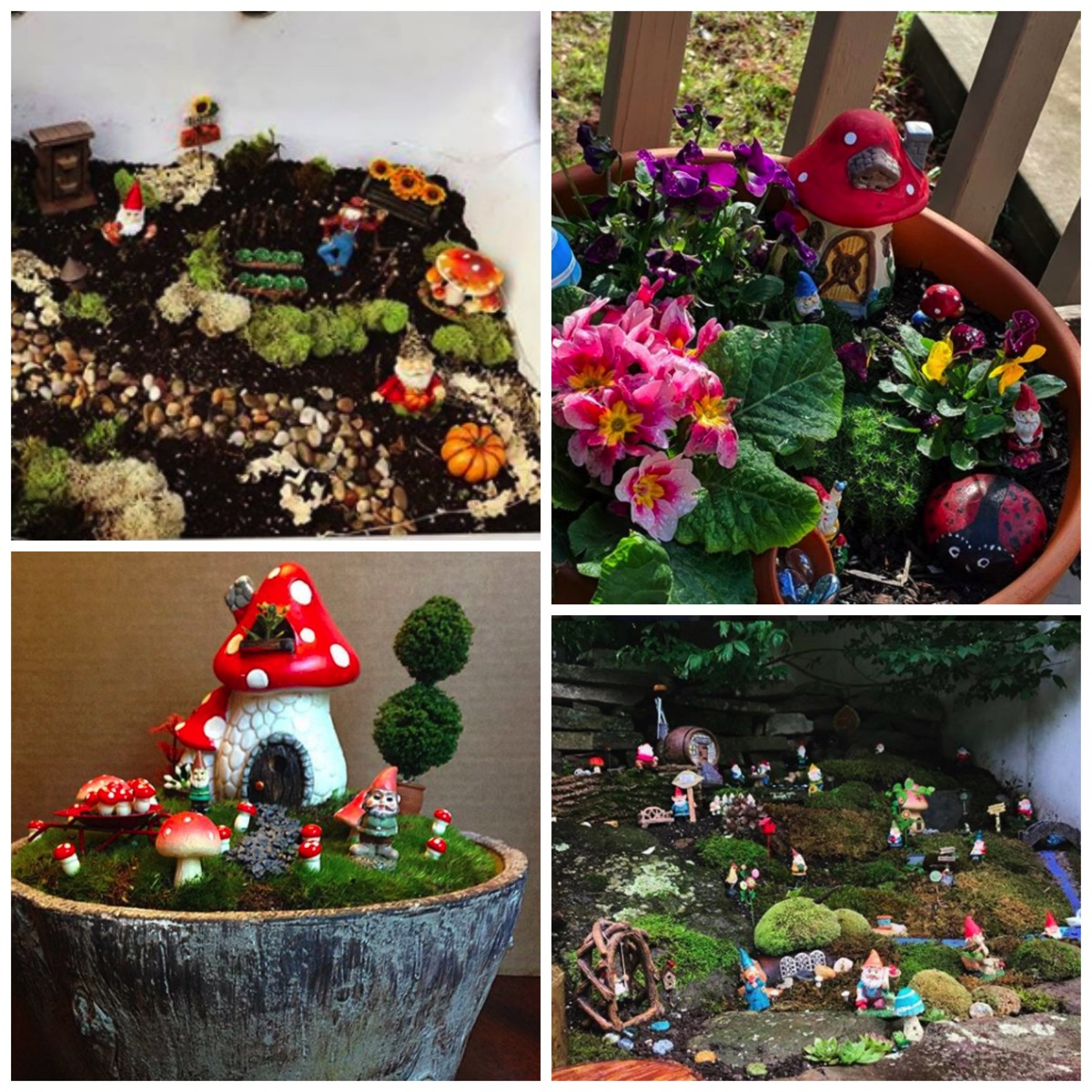 Unique gnome garden ideas for yard