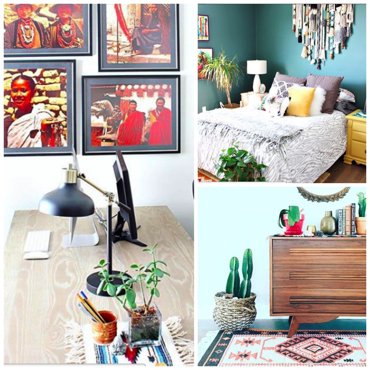 Eclectic home decor with texturs