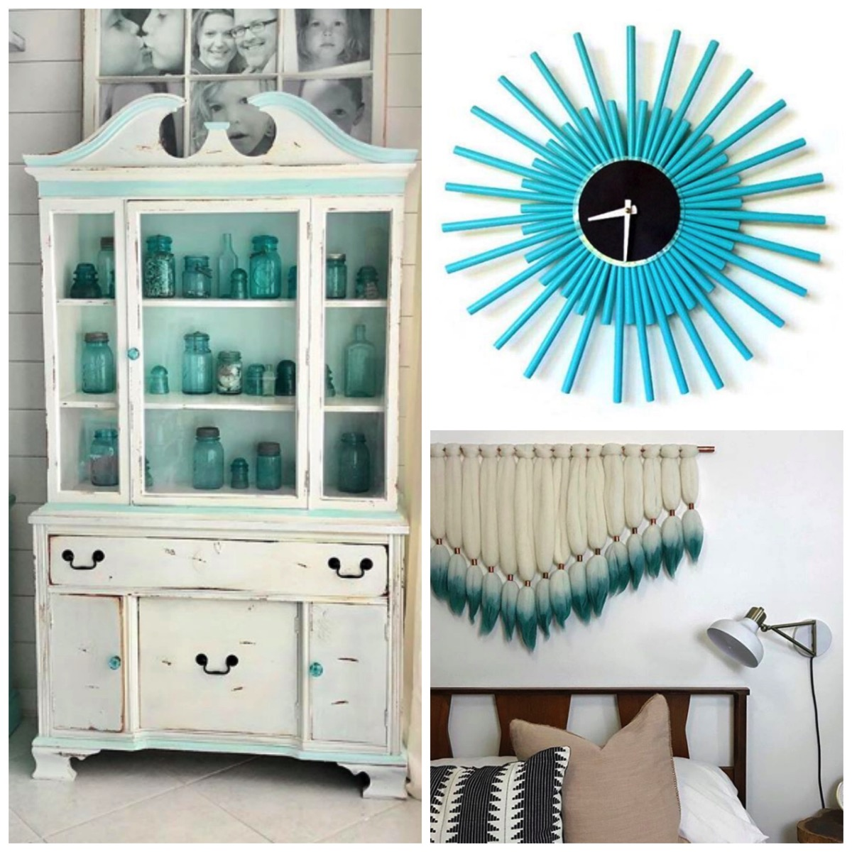 Teal colored home decor