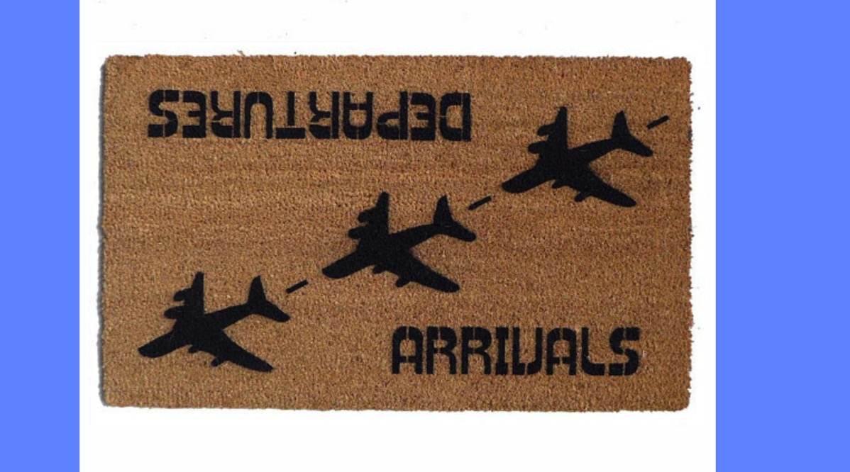 Travel welcome mat