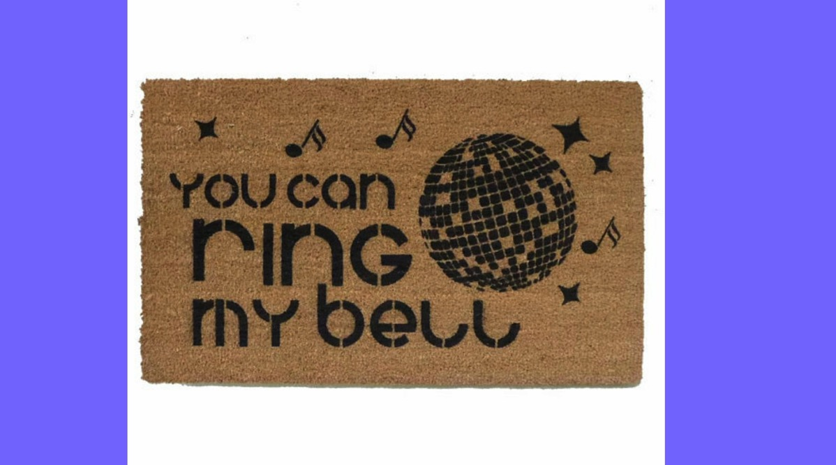 You can ring my bell home welcome mat