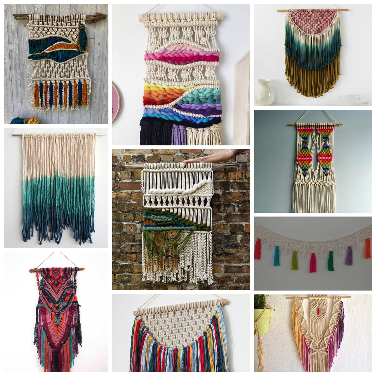 Top 10: Most Colorful and Unique Boho Macrame Wall Art For Your Home