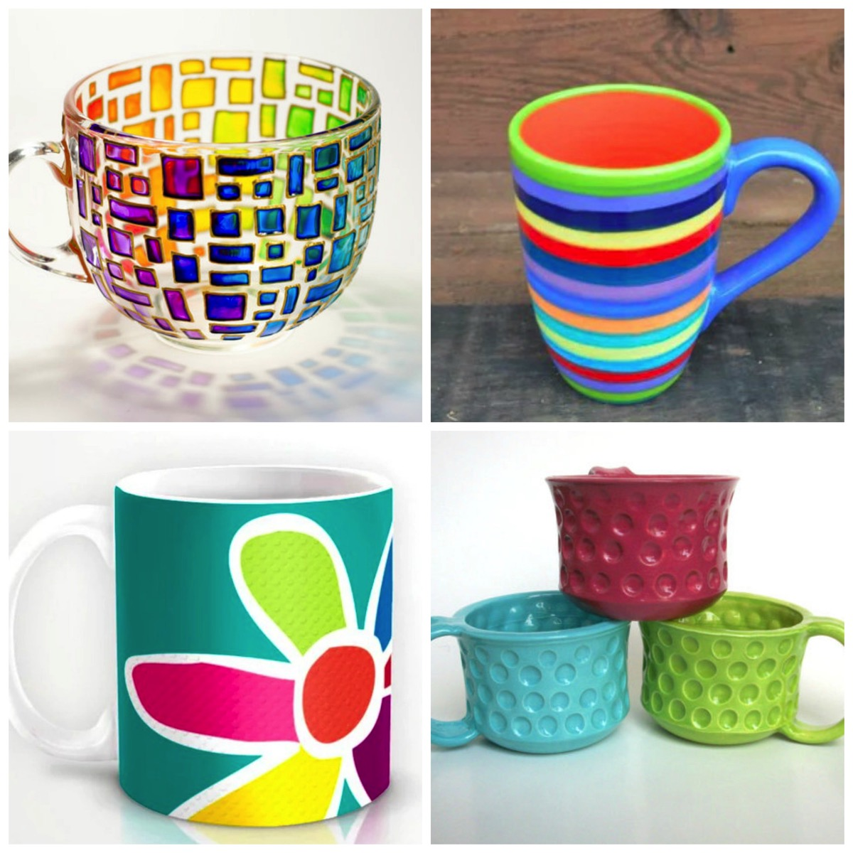Top 10 most colorful and unique tea cups and coffee cups on etsy
