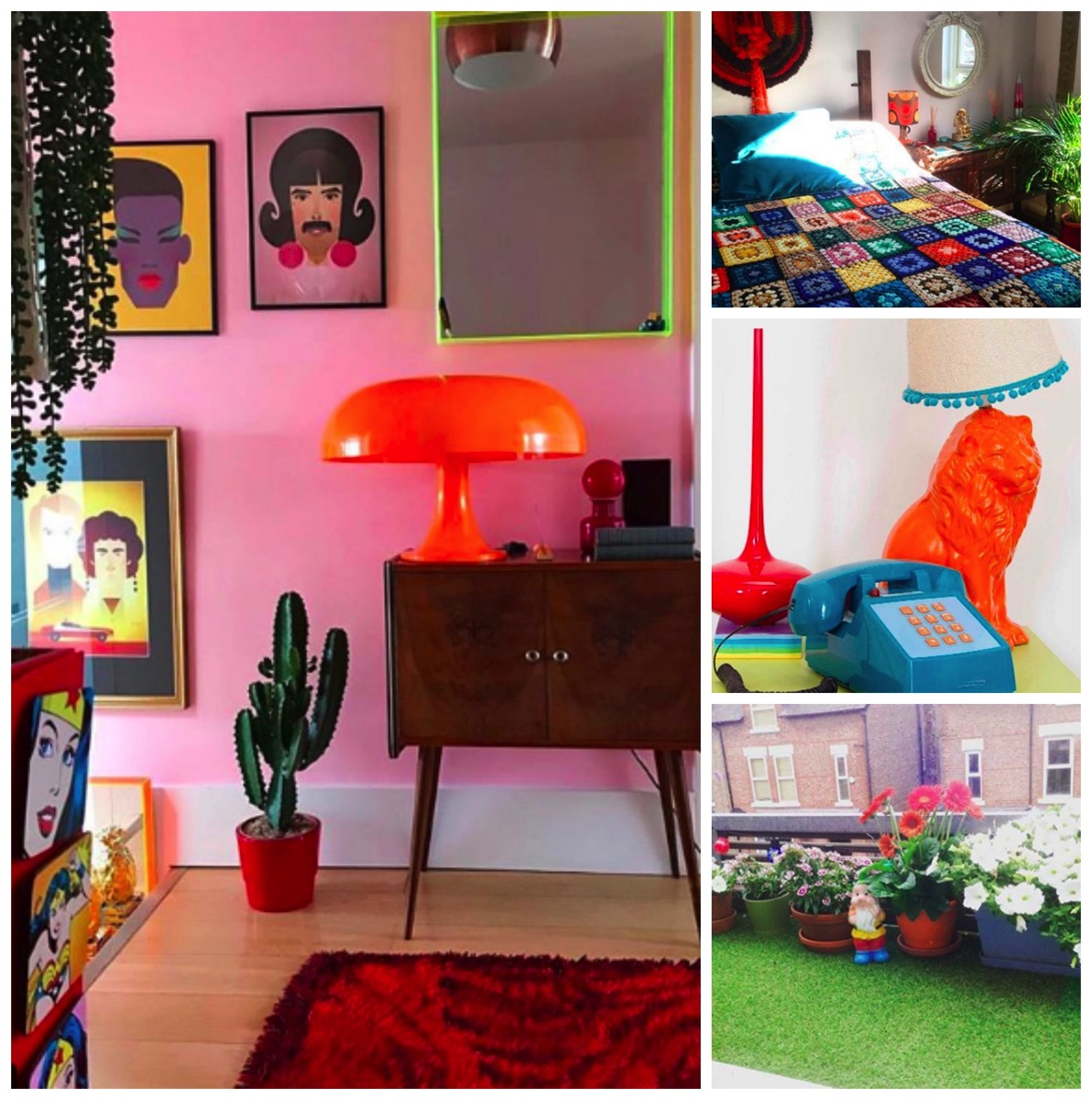 Colorful and fun retro vintage home of stuart eminson