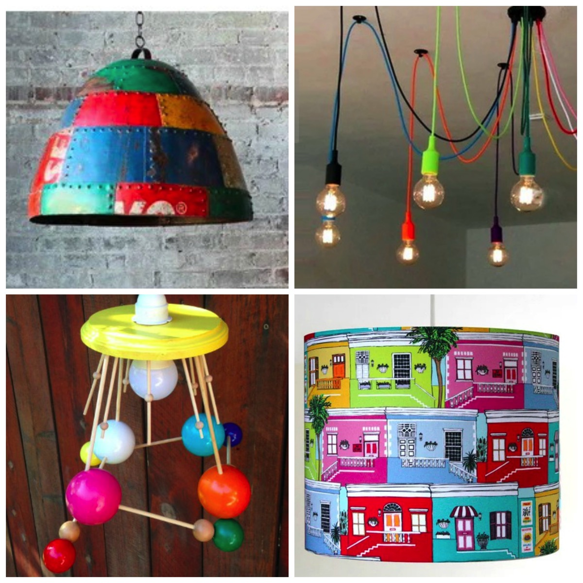 Colorful lamps and lights for home