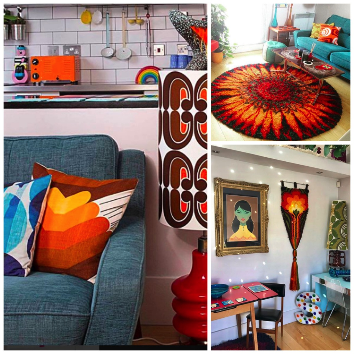 Stuart eminson retro style orange and red home