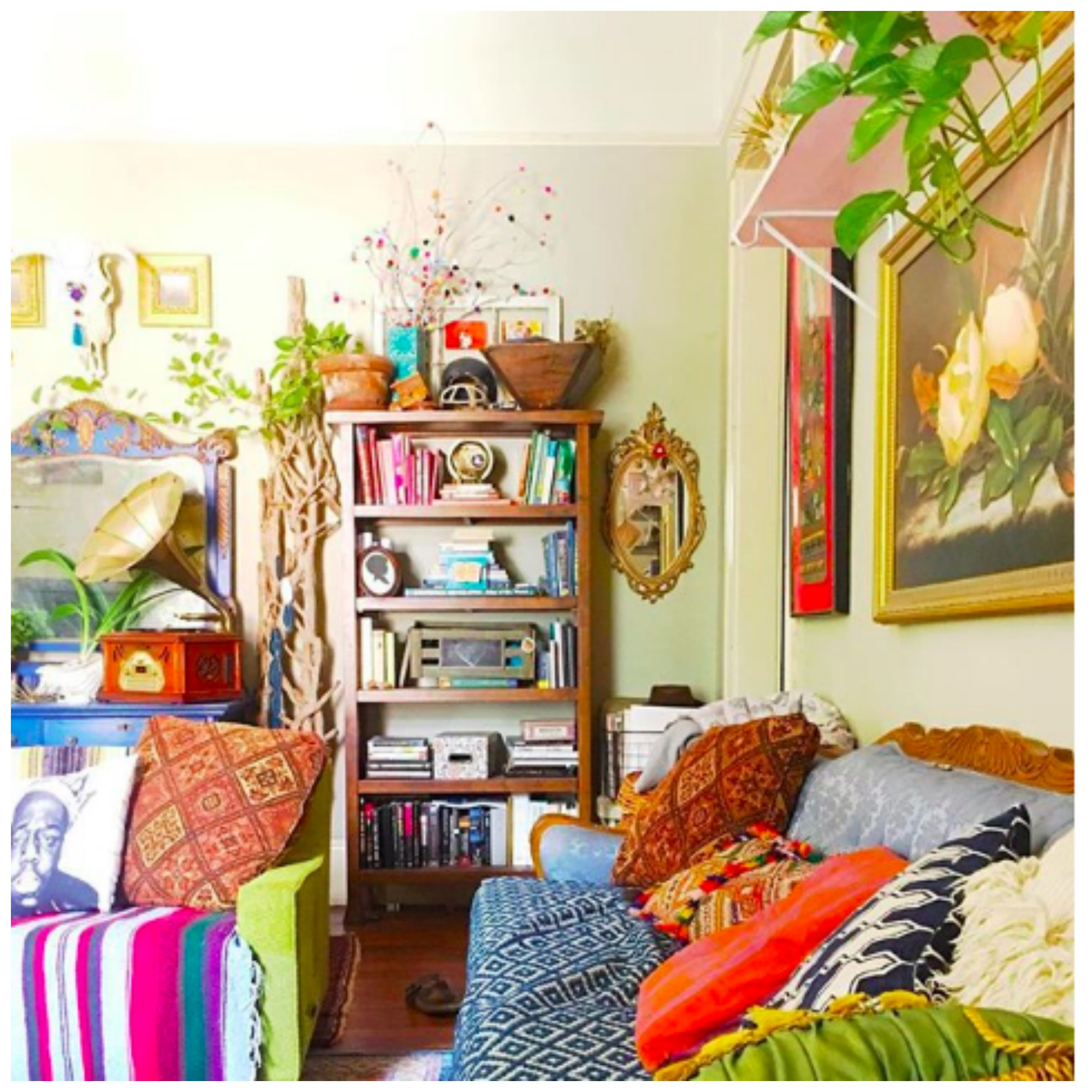 Home Tour: The Thrifty Hippie Augusta Wheeler's Beautiful and Spunky Boho Bungalow in Georgia