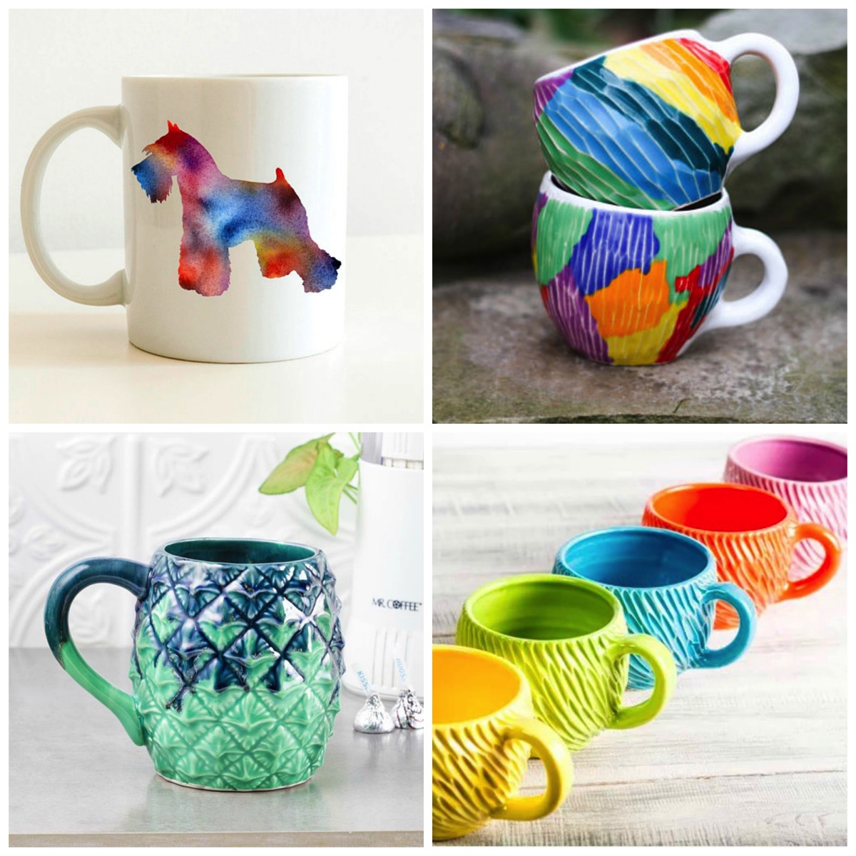 Top ten most colorful tea and coffee mugs on etsy