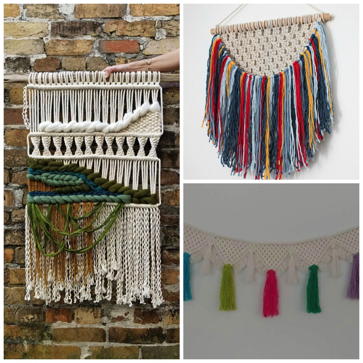 Unique and colorful boho wall art