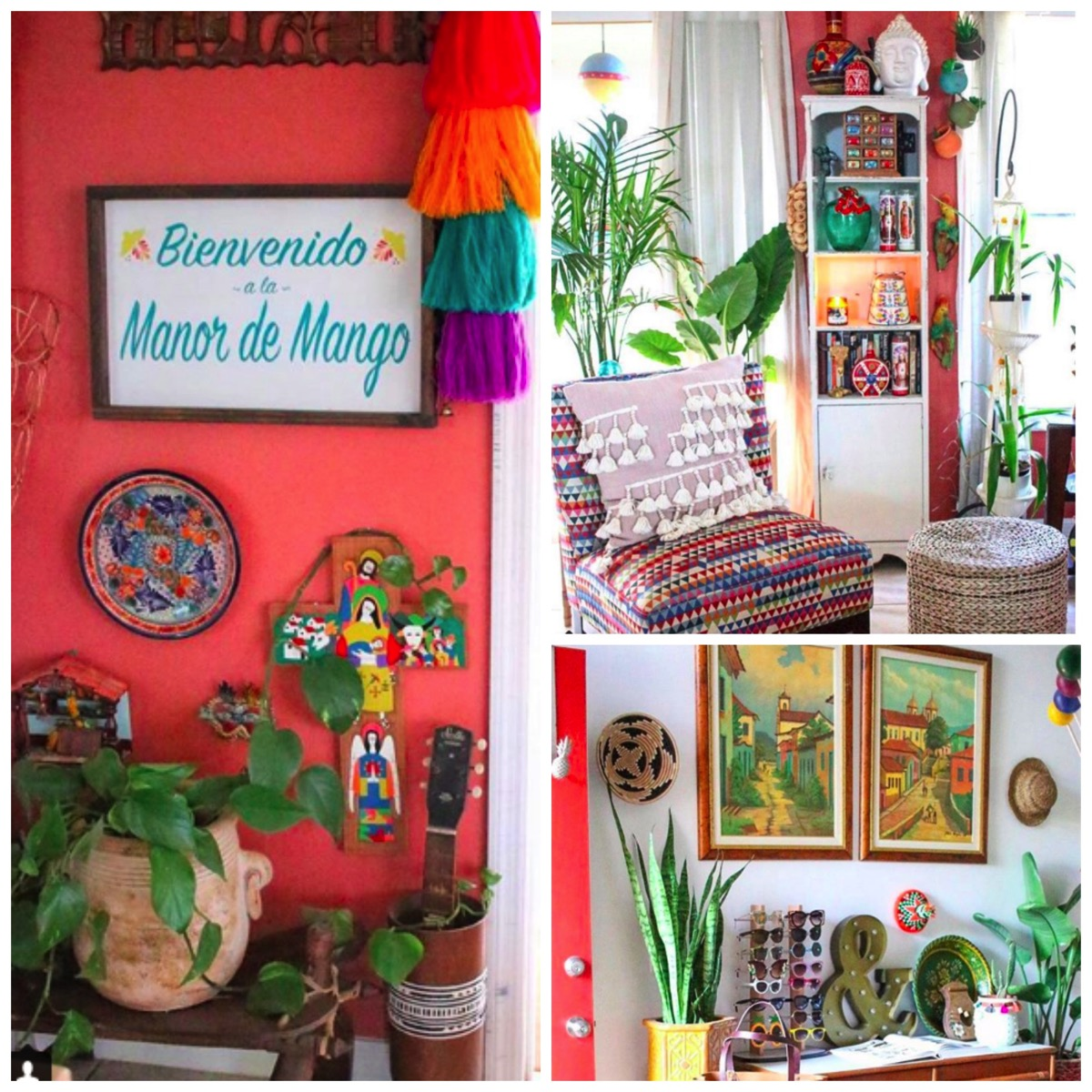 Vibrant colorful spanish style boho home