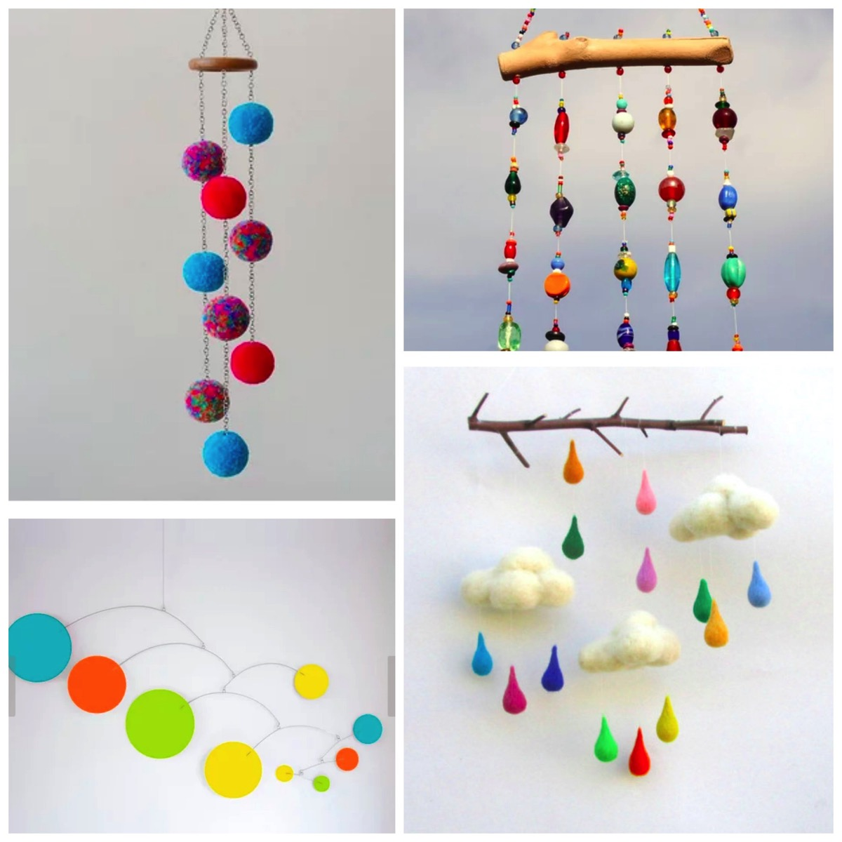 Colorful unique mobile decor for your home boho home