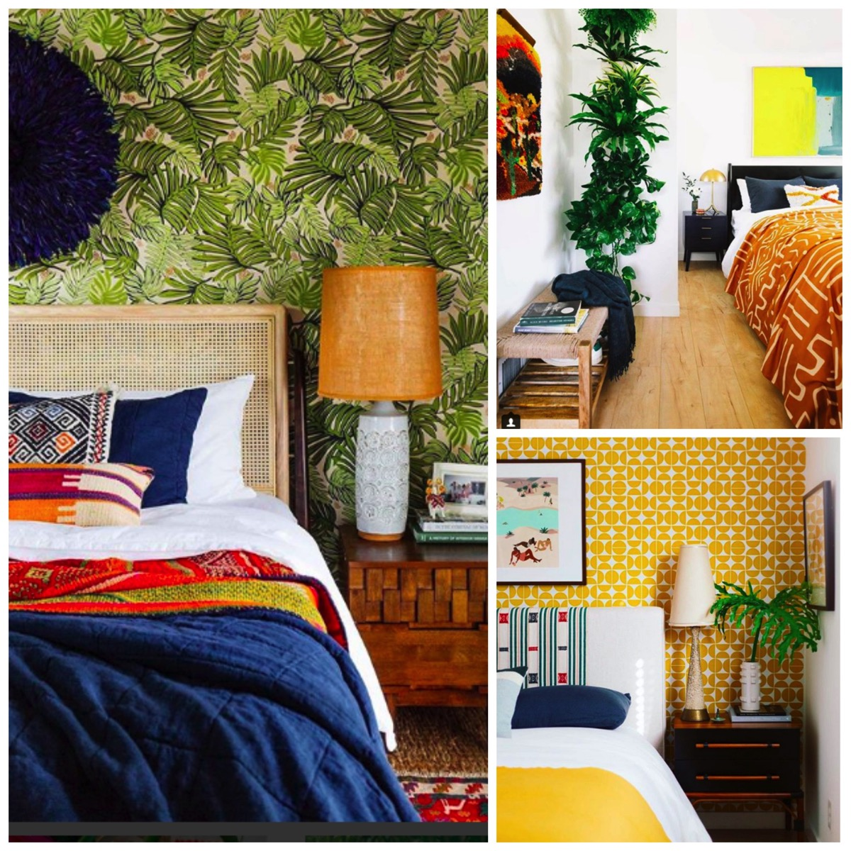 Dabito home tour bedroom boho vintage modern