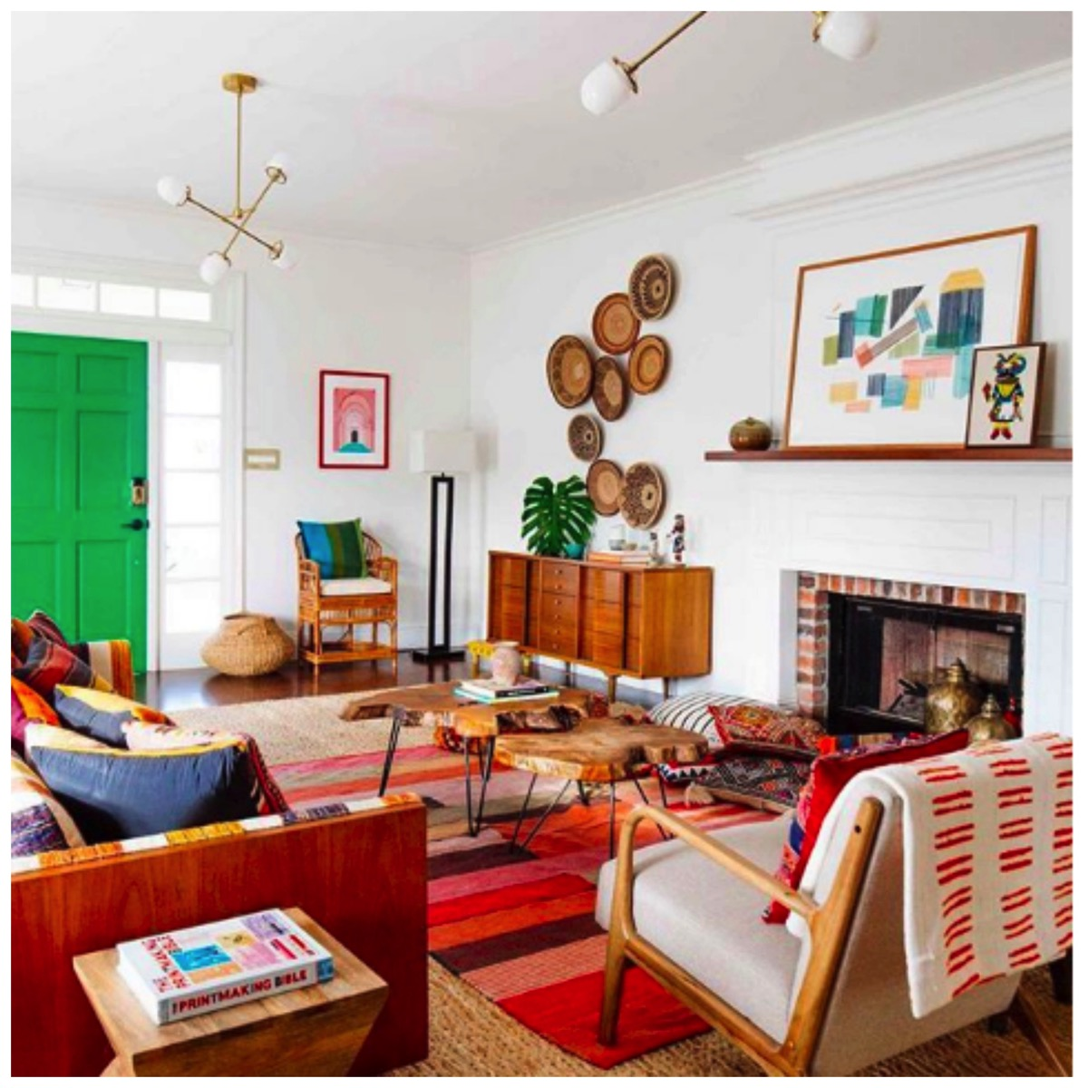 Dabito modern retro colorful livingroom tour
