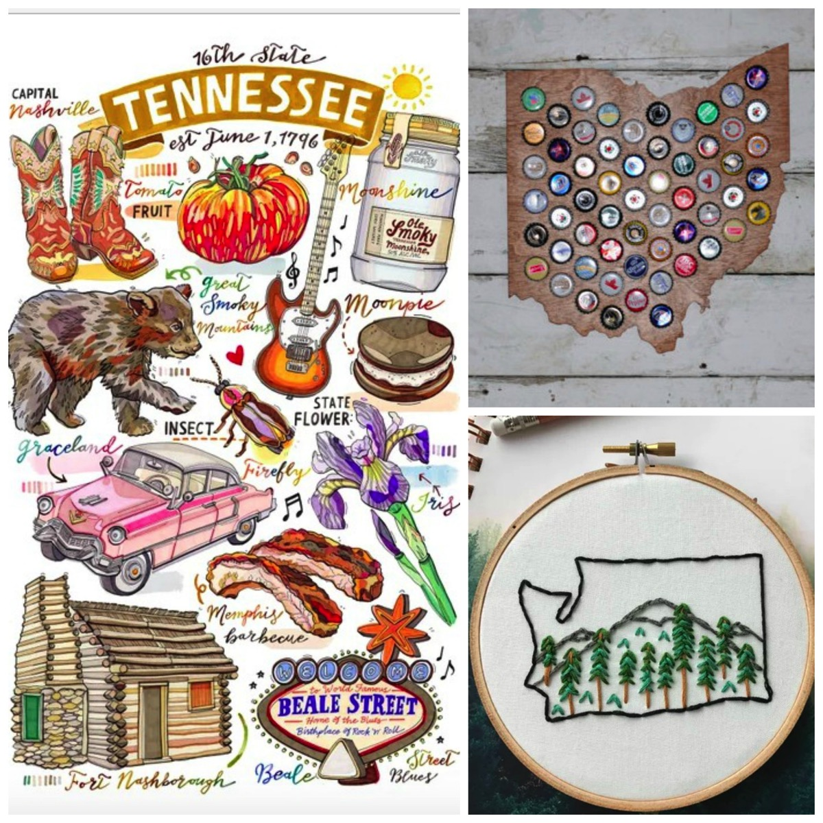 Top 10 etsy fifty state gifts for house warming and weddings
