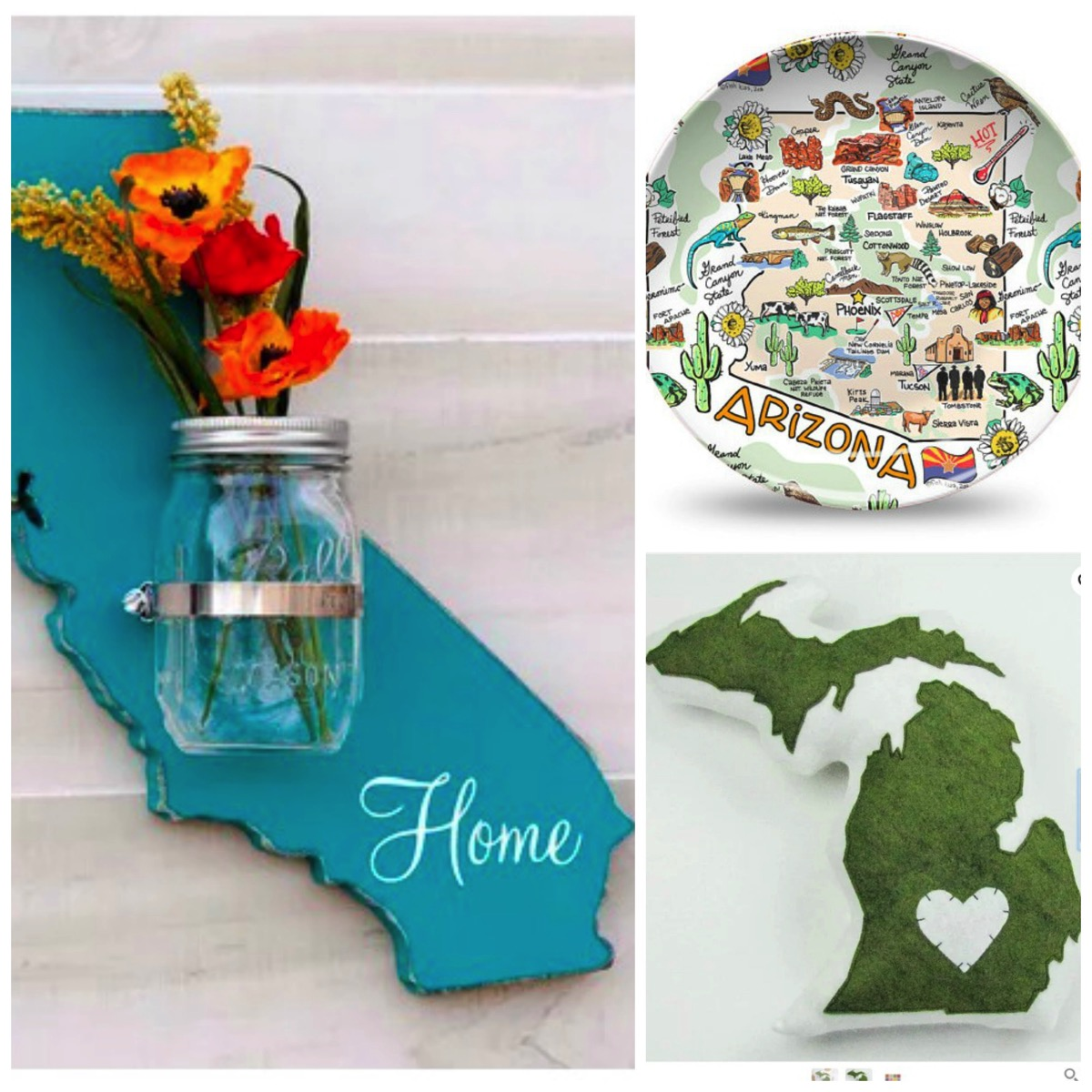 Top 10 fifty state gift ideas for birthday wedding home decor