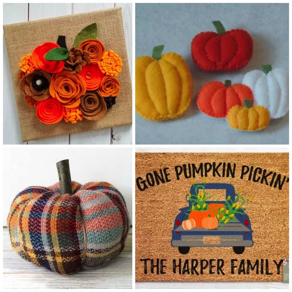 Unique autumn decor for fall pumpkins