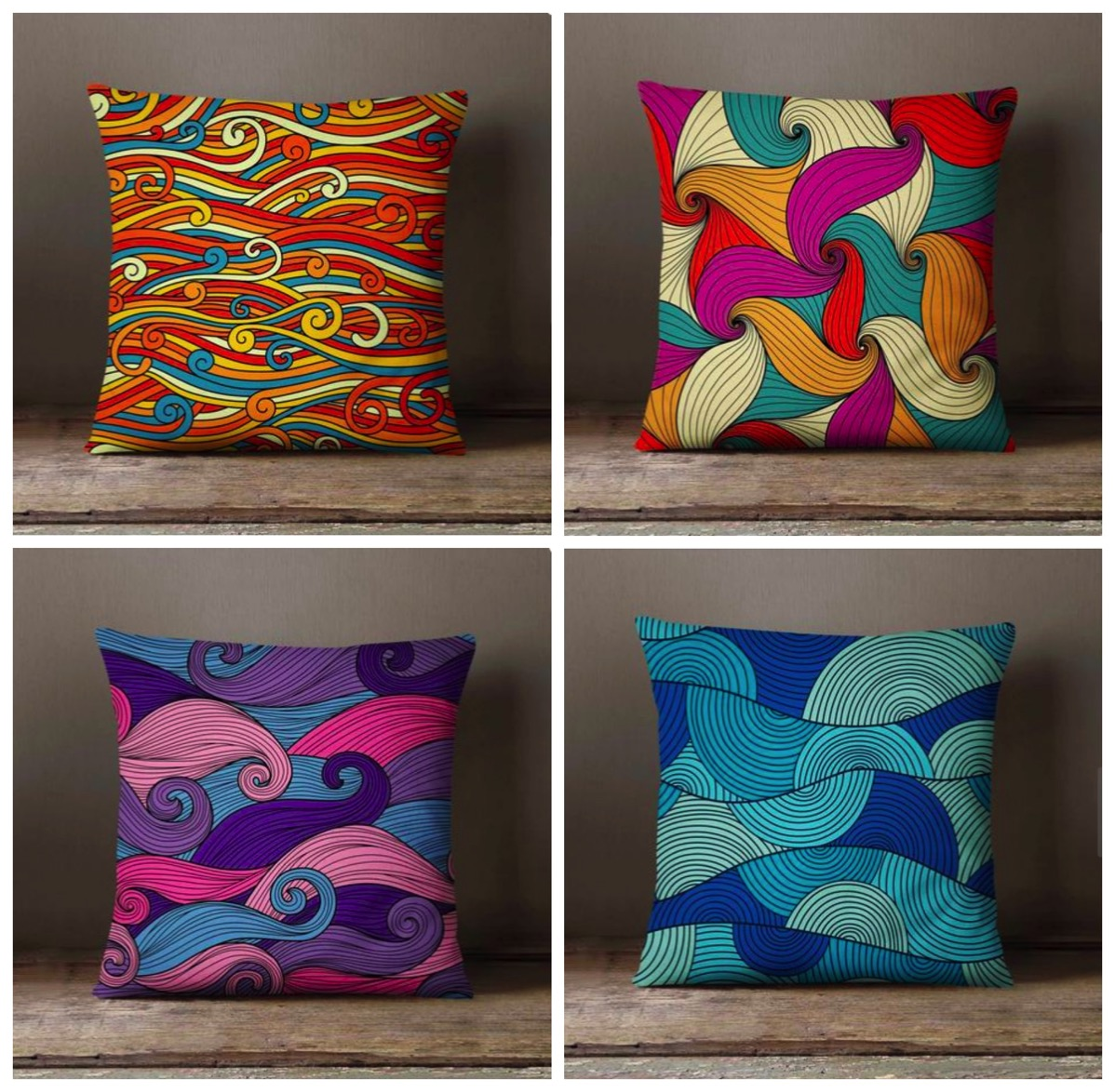 Teide etsy shop colorful pillows decorative pillows unique bold and colorful pillows dig and hang