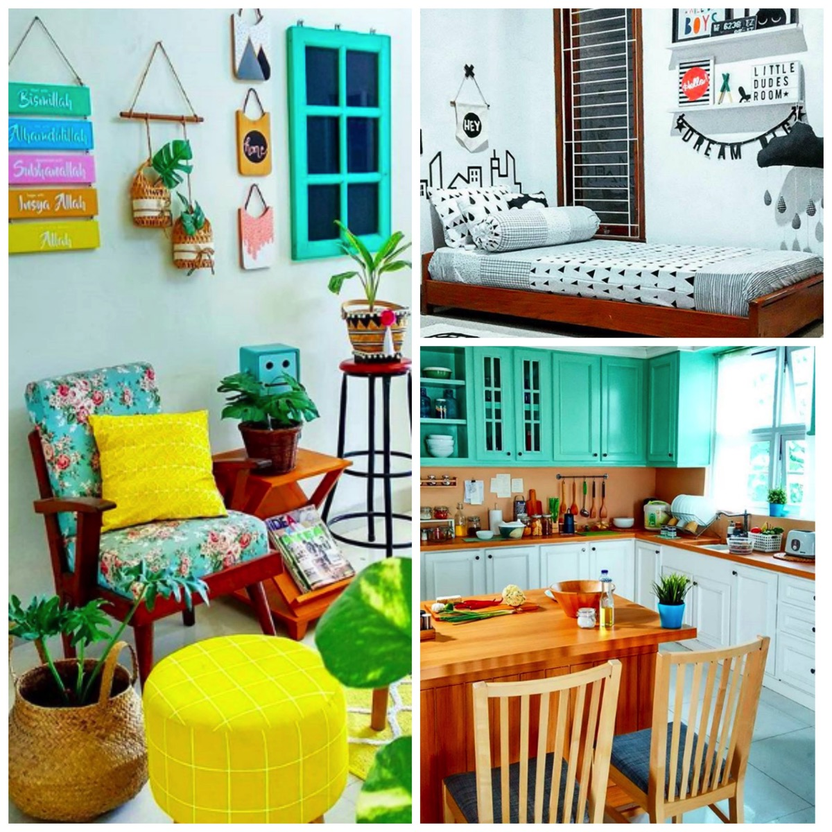 Colorful bright home decor ideas