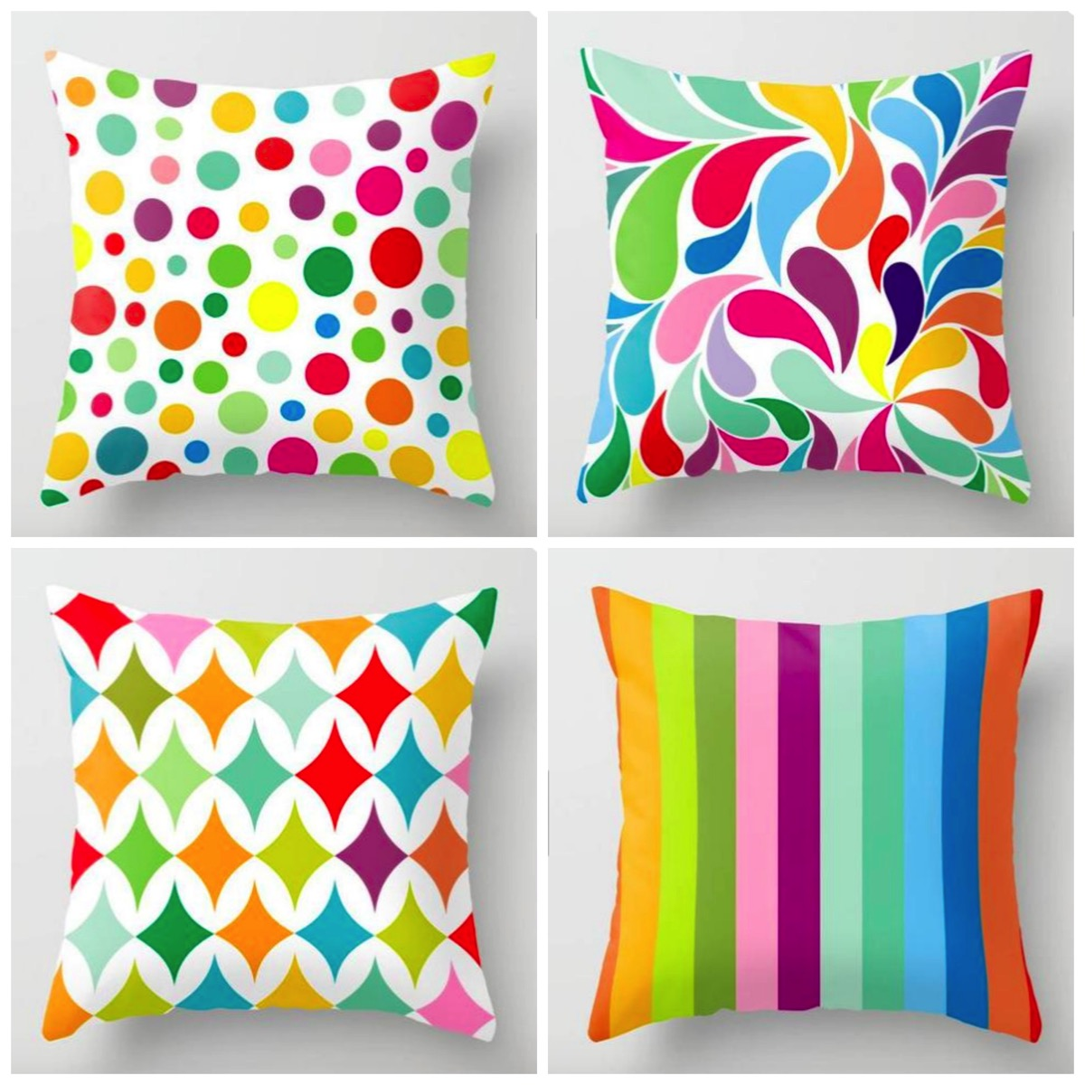 Colorful decorative pillows art is everything etsy dig and hang most colorful bold and Eclectic decor pillows