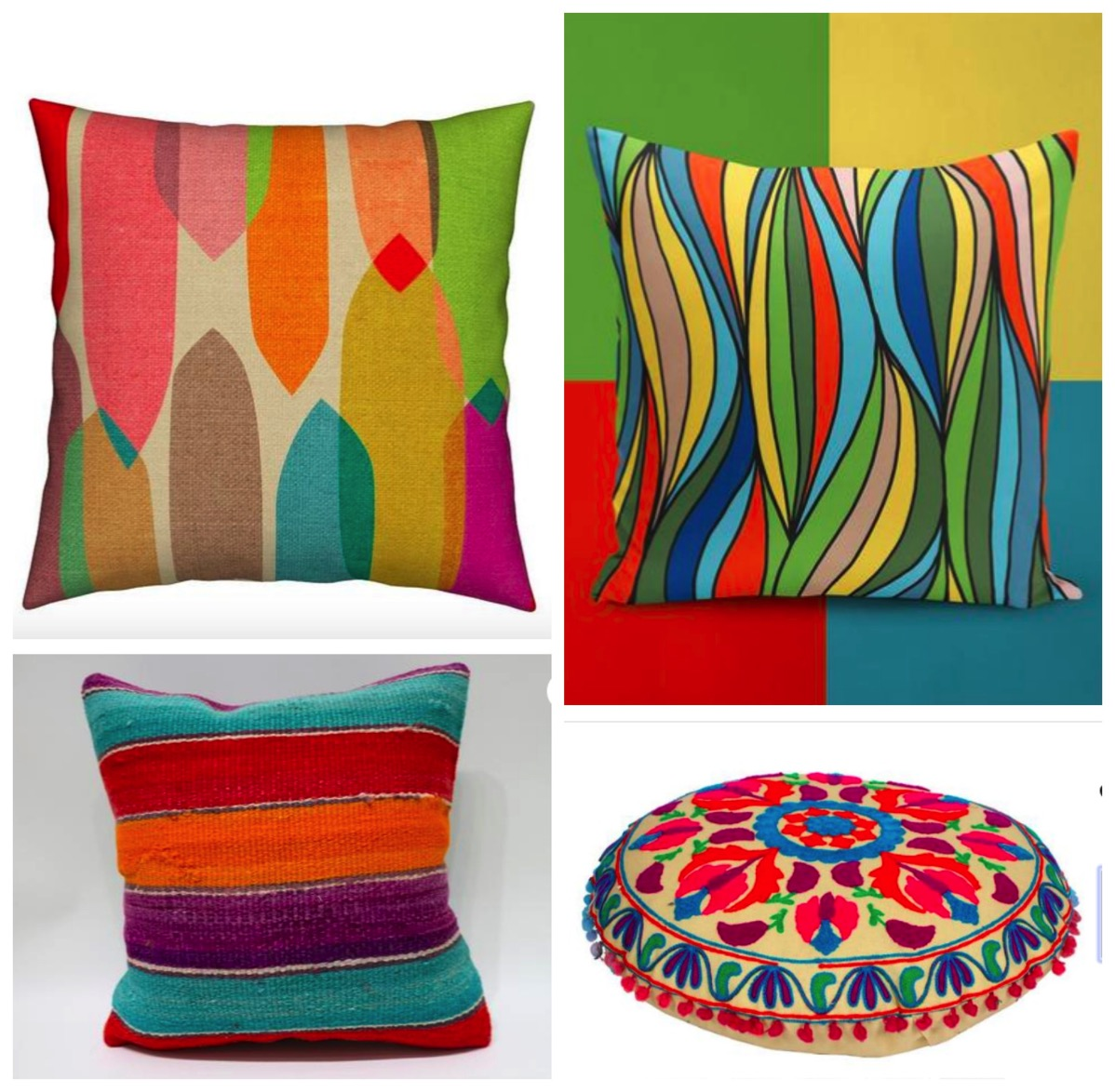 Colorful geometric decorative pillows for home boho style pillows colorful pillows for home dig and hang