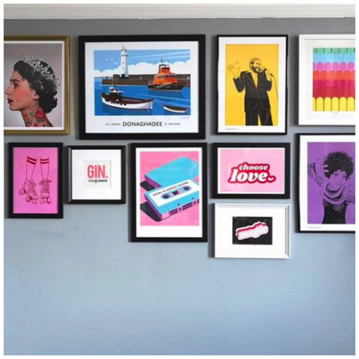 Flawsome home instagram gallery wall colorful art prints