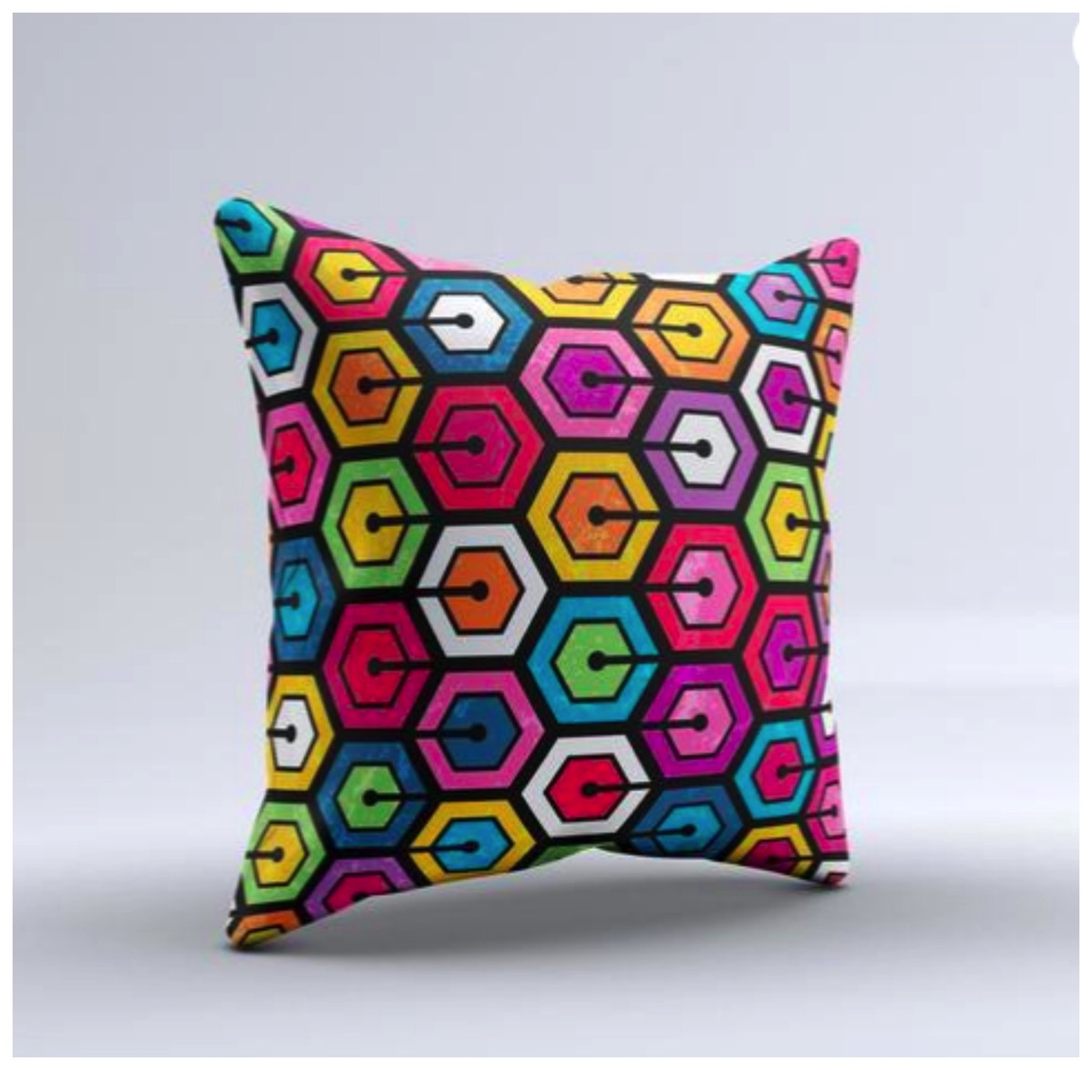 Geometric colorful pillow for home dig and hang unique pillows that are colorful