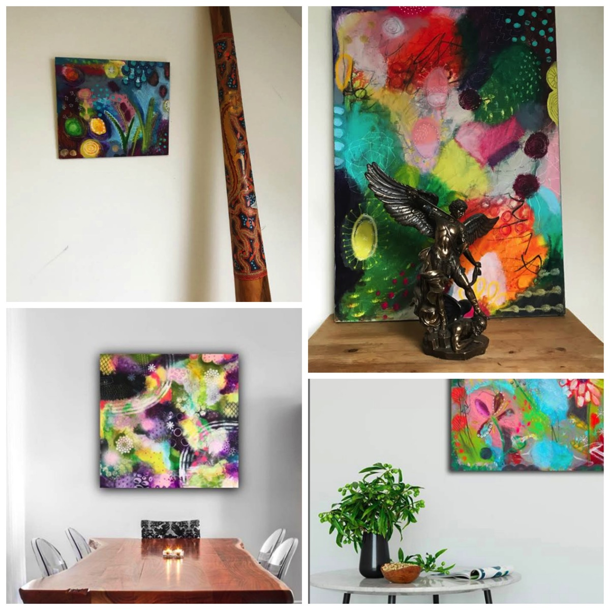 Sussane kurwig colorful mixed media art interview questions