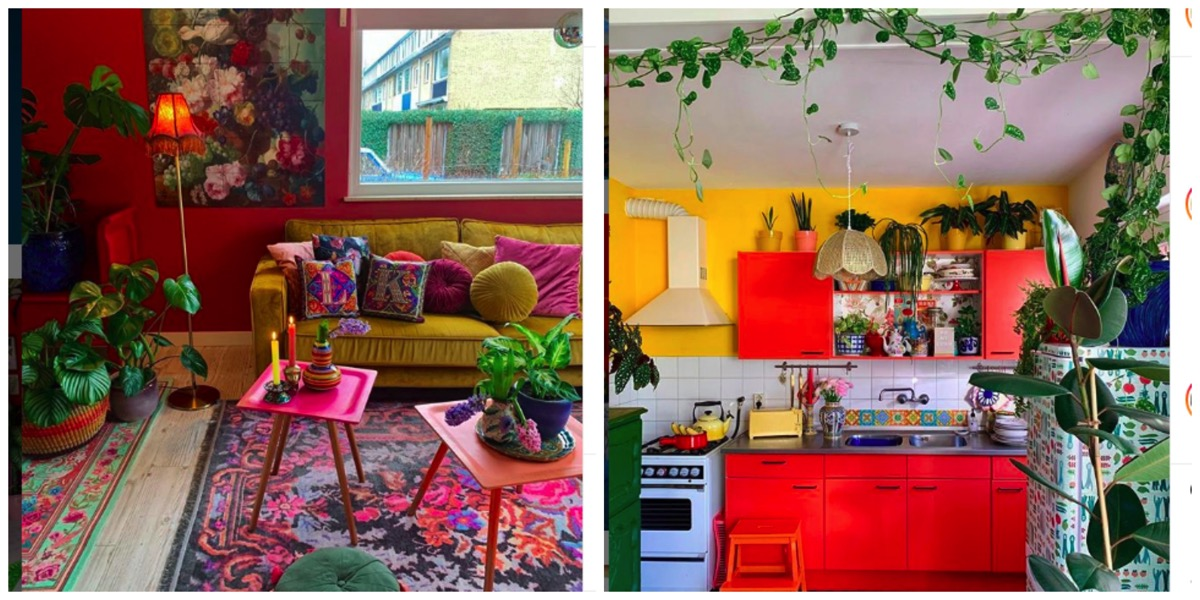 Colorful Kimmes colorful boho eclectic home decor