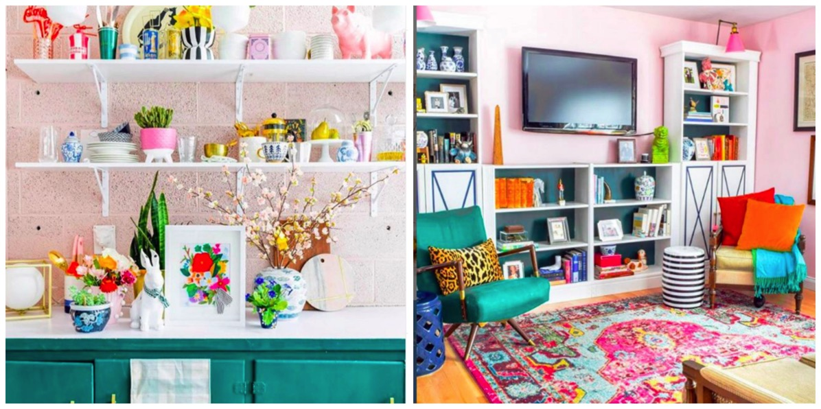 PMQ for two colorful bold pattern home decor