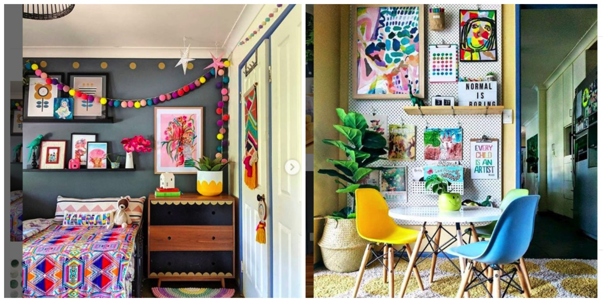The hectic eclectic colorful home decor