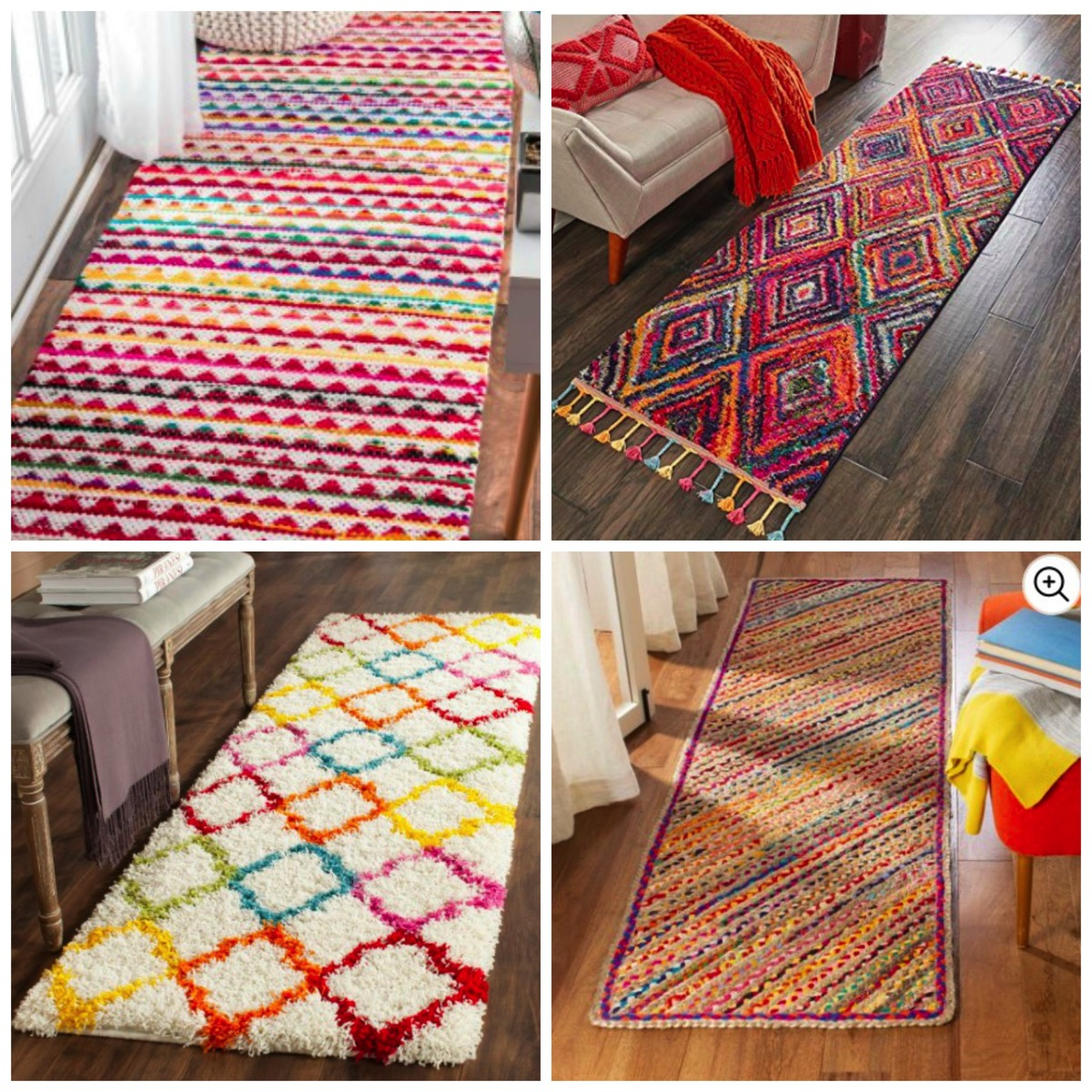 Colorful rainbow runner rugs for home vibrant and unique