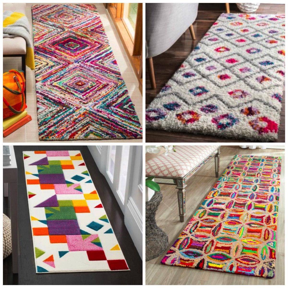 Most colorful vibrant and unique runner area rugs for home