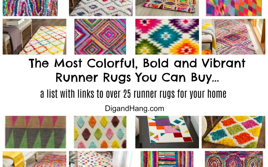 Epic Decor List: Over 25 of The Most Colorful, Vibrant, Bright and Unique Runner Rugs For Your Home
