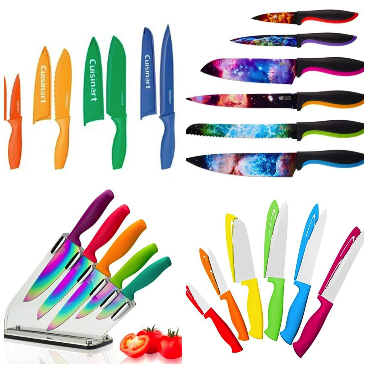 Colorful and unique knife sets for your home kitchen