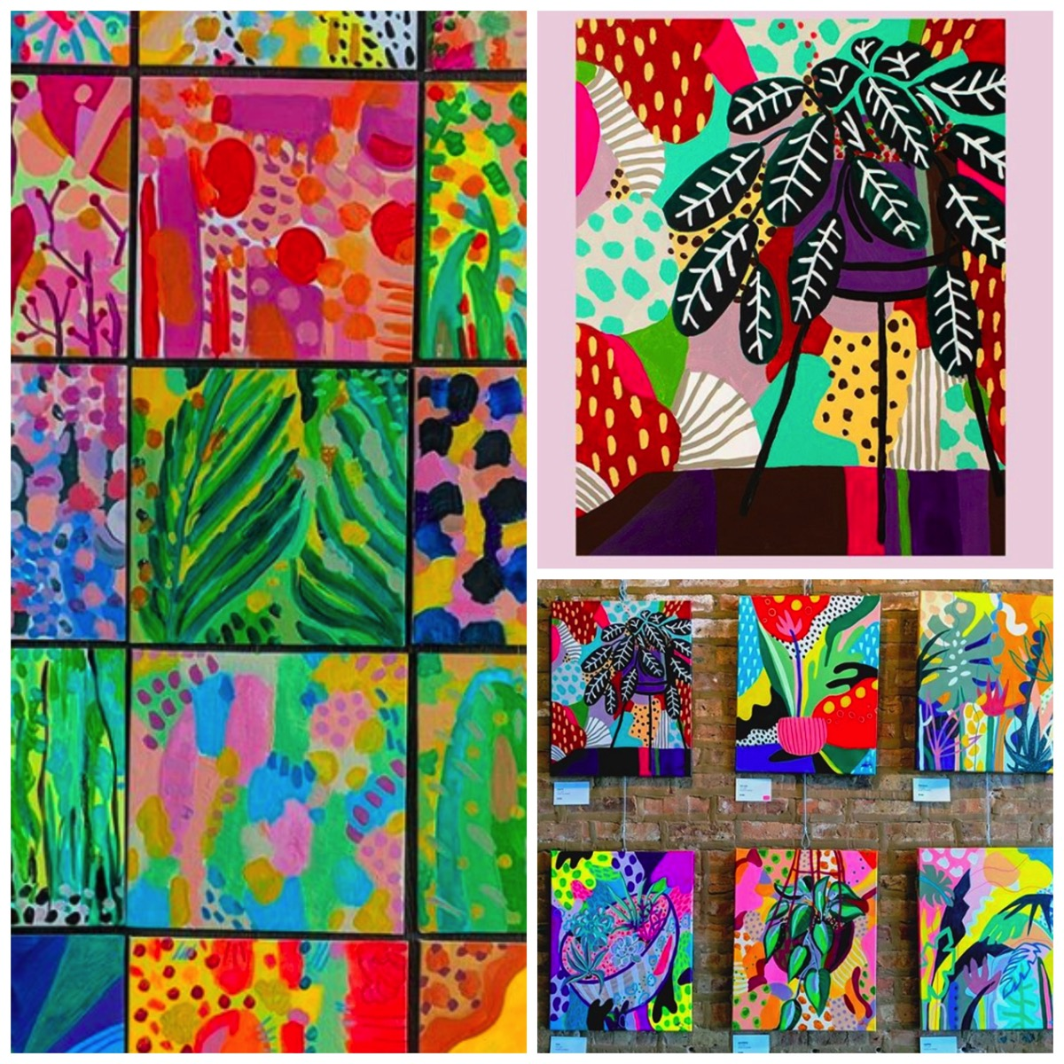 Colorful tropical boho paintings and prints ponno pozz