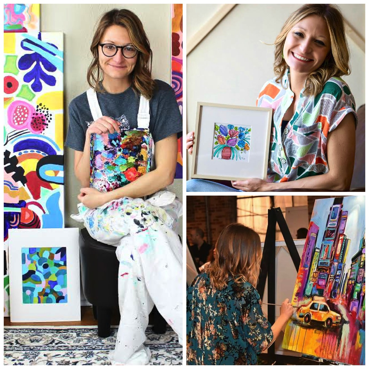 Jessica hitchcock colorful paintings colorful home decor art