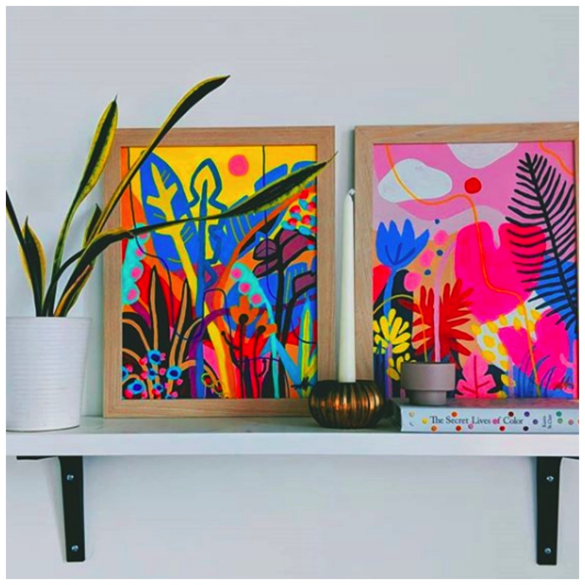Ponno pozz colorful paintings and prints tropical boho art