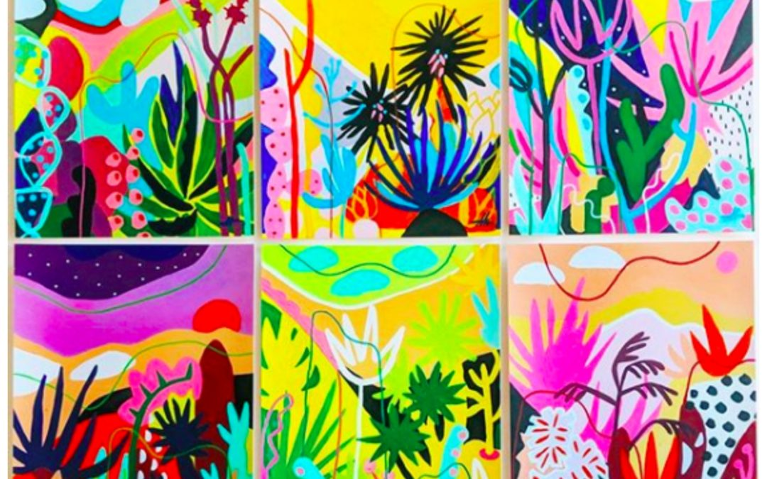 Featured Artist: Transporting You To a Distant Tropical World In Her Bright Vibrant Paintings, Adrianne Hawthorne of Ponnopozz